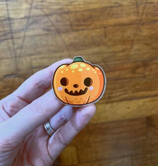 Hello October! 🧡 Hello fall everything 🍁🍂 Hello Pumpkin Spice everything 🎃 Hello animal crossing update 😬 HELLO EVERYTHING THIS MONTH (but shhhhh we don't talk about it being Q4 at work 🤫🤭) ... Loving this adorable animal crossing Jack pin from @taushaniccolescreations. If you like animal crossing (or just cute things) go check out her page and Etsy shop! 🤗😱